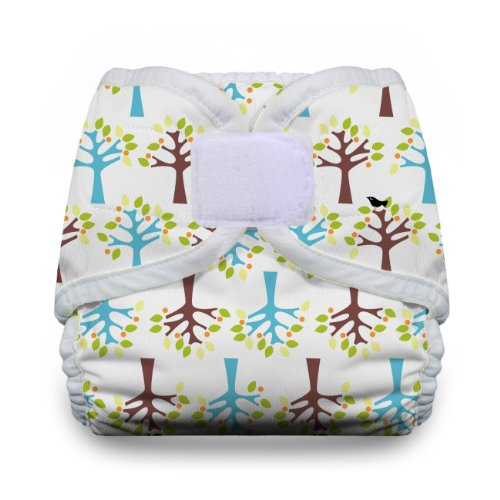 Thirsties Reusable Cloth Diaper Cover, Hook & Loop Closure, Blackbird Medium from Thirsties