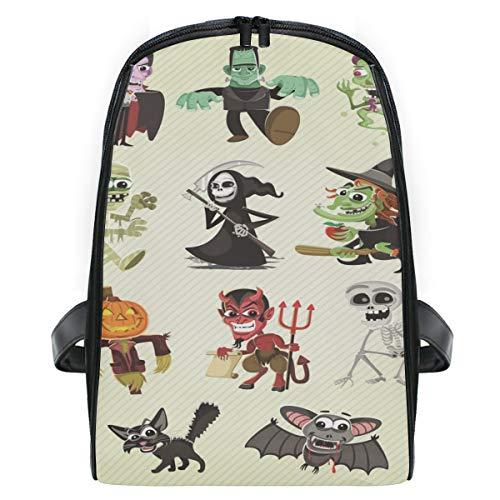 (KEAKIA Hallowen Characters School Bag Bookbags Children's Backpacks for Toddlers Kids Girls Boys Kindergarten)