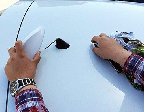 M/égane 2/Hatchback Aileron de requin fonctionnelle antenne Blanc