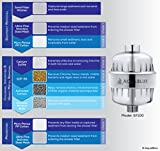 AquaBliss High Output 8-Stage Shower Filter - Reduces Dry Itchy Skin, Dandruff, Eczema, and Dramatically Improves the Condition Of Your Skin, Hair And Nails - Chrome