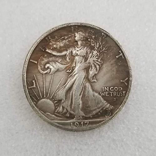 SeTing 1917 Antique Liberty Half-Dollars Coin - American Commemorative Coin - US Old Coins- Original Pre Morgan Uncirculated Condition LifeShop
