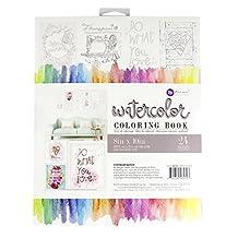 Prima Marketing 655350585723 8x10 Watercolor Coloring Book