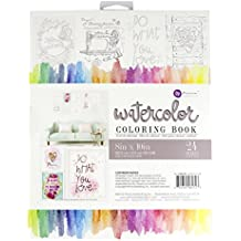 Prima Marketing 585723  8x10 Watercolor Coloring Book