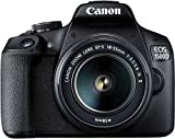 Canon EOS 1500D 24.1 Digital SLR Camera (Black) with EF S18-55 is II Lens, 16GB Card and...