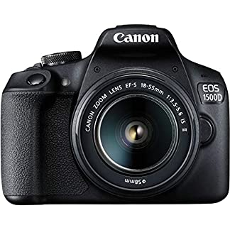 Canon EOS 1500D 24.1 Digital SLR Camera (Black) with EF S18-55 is II Lens, 16GB Card and Carry Case 9
