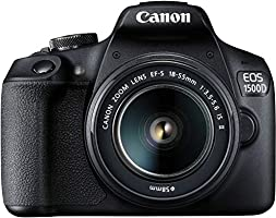 Canon 1500D DSLR at 21490 (39% off) | No cost EMI