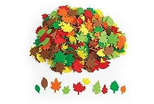 Colorations Colorful Leaf Foam Shapes - 500 Pieces (Item # FOAMLEAF)