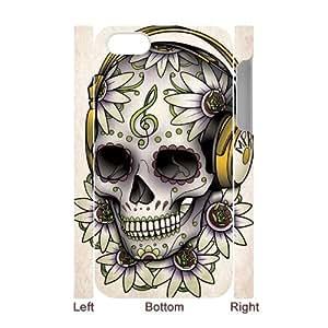 C-EUR Diy hard Case Skull customized 3D case For Iphone 4/4s