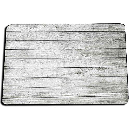 Rustic Wood Indoor or Outdoor Kitchen Rugs, Bathroom Rugs, or Door Mats in Five White Beige and Gray Wood Patterns (Indoor, White Gray) White Indoor Outdoor Rugs