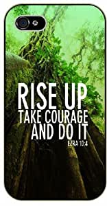 Rise up, take courage and do it - Ezra 10:4 - Tree - Bible verse iPhone 5 / 5s black plastic case / Christian Verses