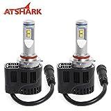 Atshark 110W 10400LM H10 9005 HB3 LED Headlight Bulbs Headlamp Conversion Kit 4PCS Philips LED 6000K White Super Bright Halogen HID Replacements
