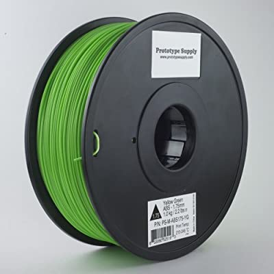 Prototype Supply ABS 3D Printing Filament 3mm Yellow Green 1kg/roll (2.2 pounds) - Discontinued Product