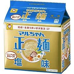 マルちゃん正麺 塩味 5P