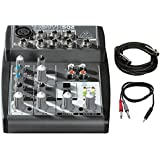 BEHRINGER 502 Premium 5-Input 2-Bus Mixer with Xenyx Mic Preamp and British EQ, Black