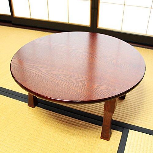 卓袱台 60cm (木製 漆器 漆塗り ちゃぶ台) B0796RG1FB
