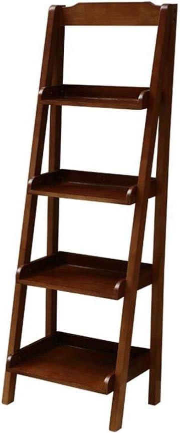 Jcnfa-Estante Estante para Libros Apoyado contra La Pared Escalera De Estante De Múltiples Capas Soporte De Madera Maciza Sala De Estar Dormitorio Balcón, 2 Tamaños.: Amazon.es: Hogar