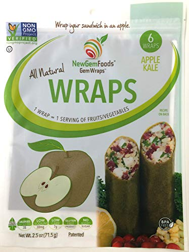 - GemWraps Kale-Apple Sandwich Wraps 6-sheets