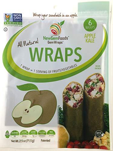 GemWraps Kale-Apple Sandwich Wraps 6-sheets
