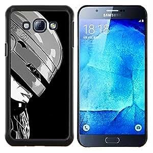 """Be-Star Único Patrón Plástico Duro Fundas Cover Cubre Hard Case Cover Para Samsung Galaxy A8 / SM-A800 ( B & W Robotcop Robo Cop"""" )"""
