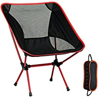 Yocuby Folding Chair, Ultralight Portable Folding Camping Chairs Aluminum Alloy Support 330 lbs Perfect for Camping/Hiking/Fishing/Beach/Picnic With Carry Bag(Orange)
