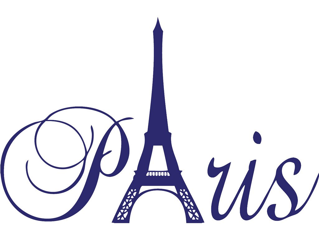 Purple 24'' x 16'' Paris Tower girls room wall decal home decor vinyl