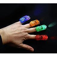 dazzling toys Finger Lights - Led Car Shaped Finger Lights 40 Pc | Multicolor Finger Beams Set | Bright Raving Strap on Finger Lights | Fun Car Shaped Lights | Light up Toys for Fingers - 40 Pcs