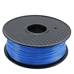 TIANSE 1KG Blue 1.75mm PLA 3D Printer Filament, Dimensional Accuracy +/- 0.03 mm, 2.2 Pound Spool from TIANSE
