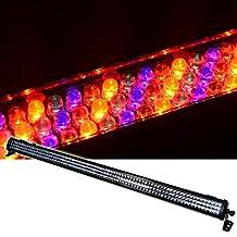 DragonX Slim LED Light Bar/ RGBA Wash Effect Light LED Color Bar/ Color LED Stage Wash Light Bar with Amber Stage DJ Light-Compatible with DJ LED mega Bar DMX Controller