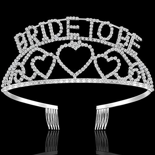 FANDAMEI Bride to Be Crown Tiara -