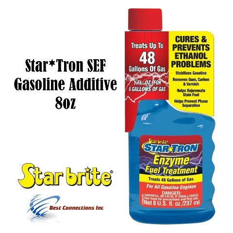 Star Tron SEF Gasoline Additive 8 oz For All Gasoline Engines StarBrite 14308