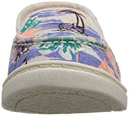 Roxy TW Lido III Slip On Shoe (Toddler), Blue Surf, 5 M US Toddler
