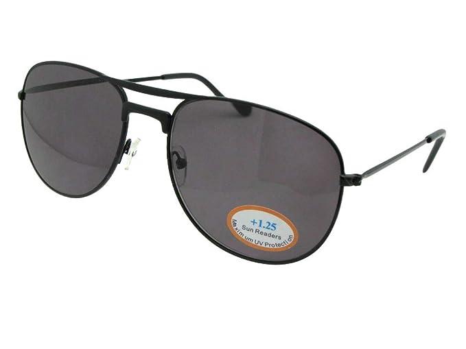 76a876b35f5ae Aviator Full Lens Reading Sunglasses Style R95 Sunglass Rage (Black Frame-Gray  Lenses