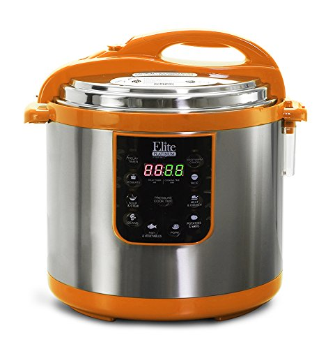 013OR Maxi-Matic 10 Quart Electric Pressure Cooker, Orange (Stainless Steel) ()