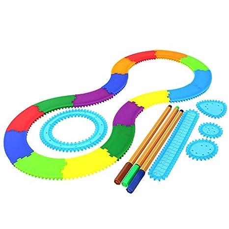 Millya - Set de dibujo en espiral para adultos y niños con 3 colores: Amazon.es: Juguetes y juegos