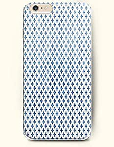 Blue Cross In White Background - Geometric Pattern - Phone Cover for Apple iPhone 6 Plus ( 5.5 inches ) - SevenArc ... by supermalls