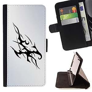 - Tribal Flames - - Prima caja de la PU billetera de cuero con ranuras para tarjetas, efectivo desmontable correa para l Funny HouseFOR Samsung Galaxy S6 EDGE