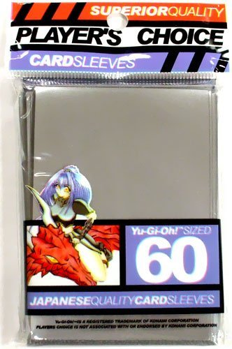 YuGiOh Players Choice 60 Count YuGiOh Size Japanese Quality Gaming Card Sleeves White by Players Choice Player/'s Choice
