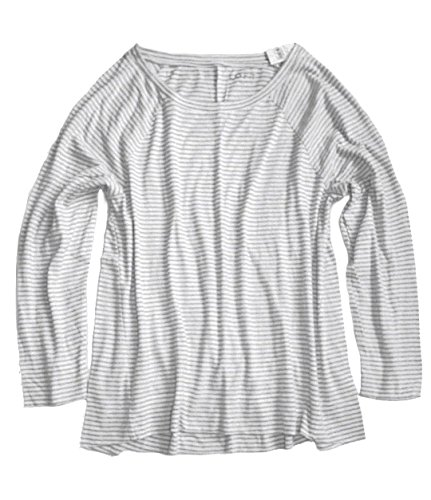 Ann Taylor Loft Womens   Navy Striped Long Sleeve Tee  Navy  Large