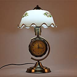 DIDIDD Retro lamps creative minimalist modern decor clocks lamps bedroom study personality dimming bedside lamps