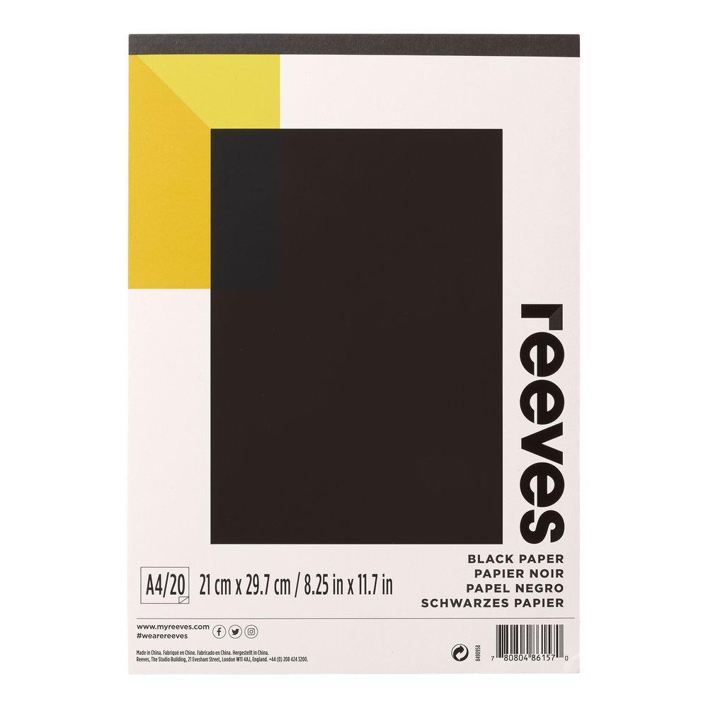 Reeves 8490958 Tonpapierblock - schwarzes Papier 20 Blatt 120g m², m², m², hochwertiges Papier, lichtBesteändig & alterungsBesteändig - A4 B06XCYVLRN    | Meistverkaufte weltweit  9693de