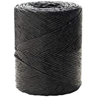 WOLFPACK LINEA PROFESIONAL 16011005 Cuerda Rafia Bobina 750 Gramos Color Negro