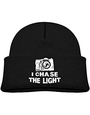 Warm I Chase The Light Printed Infant Baby Winter Hat Beanie