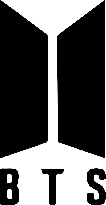 Amazon com bts k pop boy band logo 6 kpop decal sticker for laptop car window tablet skateboard black color everything else