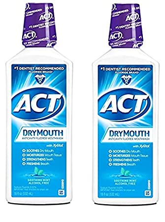 Act Mouthwash Dry Mouth >> Amazon Com Trending Pack Of 2 Act Total Care Dry Soothing