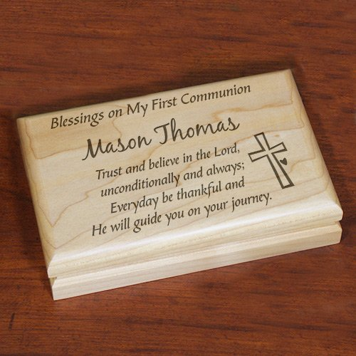 Engraved First Communion Valet Box, 7½