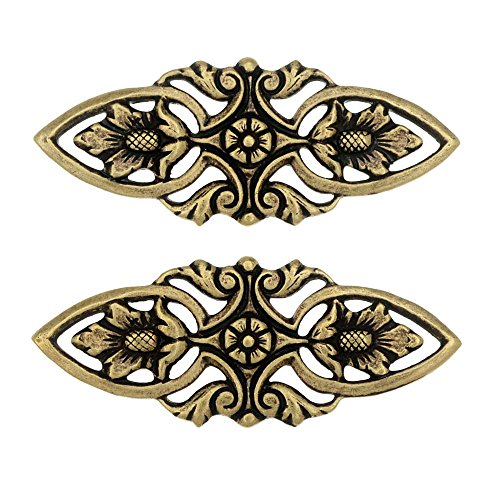 Beadaholique Stamping Connector Link, Filigree Marquise 12x30mm, 2 Pieces, Antiqued ()
