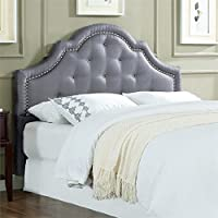 Lifestyle Solutions Jayla Kd Queen Headboard in Light Gray