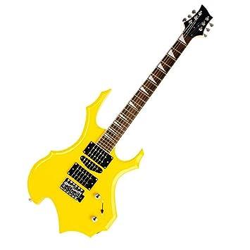 LVSSY-Cool Burning Fire Style Guitarra Eléctrica Principiantes ...