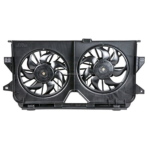 (Condenser Or Radiator Cooling Fan Assembly For Chrysler Town & Dodge Caravan - BuyAutoParts 19-20153AN New)