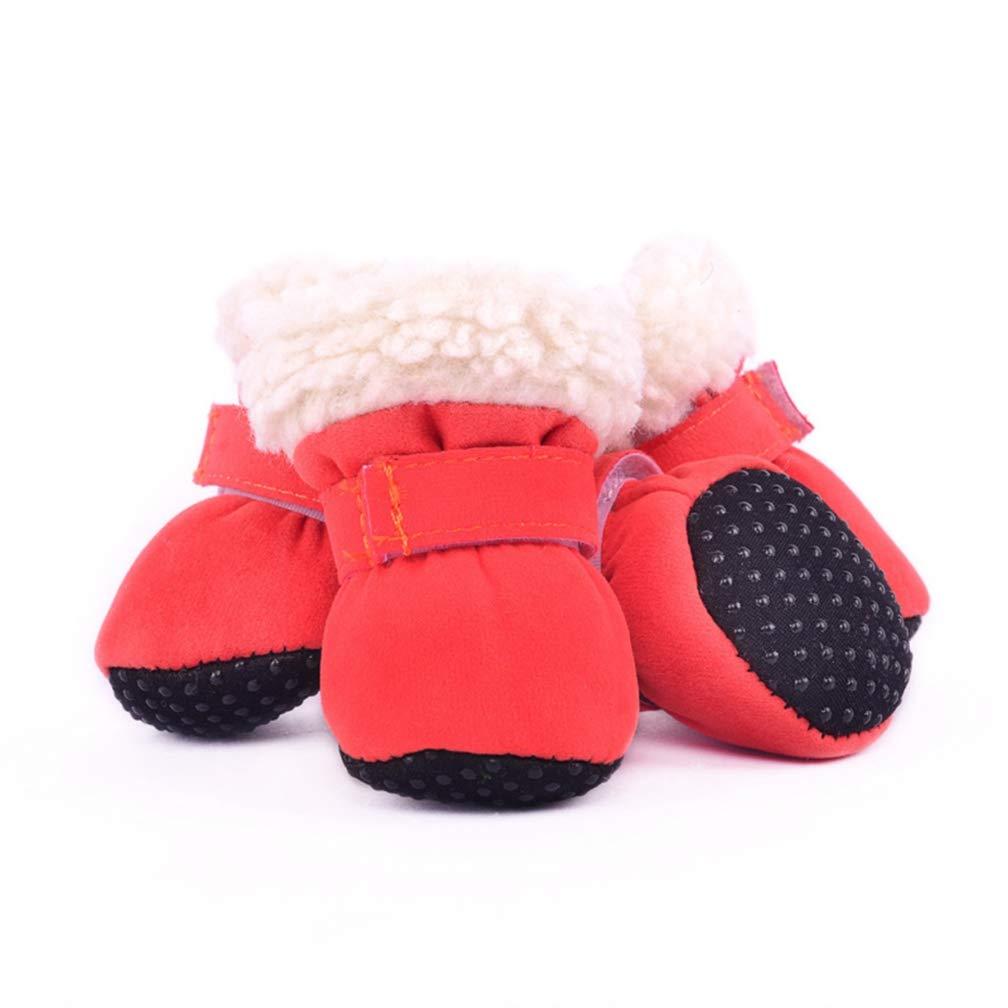 orange 3 orange 3 SENERY Pet Dog shoes Boots,Winter Anti-Slip Pet shoes Warm Outdoor Poodle Dog Boots Puppy Footwear